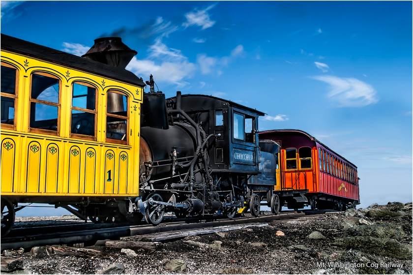 Mt. Washington Cog Railway by Malcolm Leach