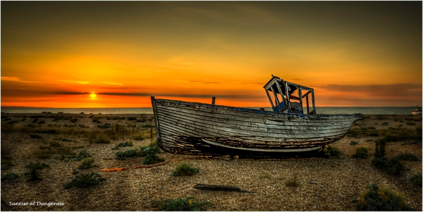 Sunrise At Dungeness by Malcolm Leach